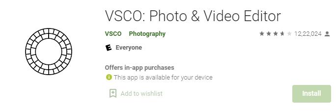 VSCO photo edit